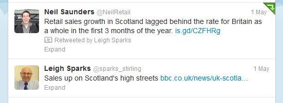 Retail sales twitter