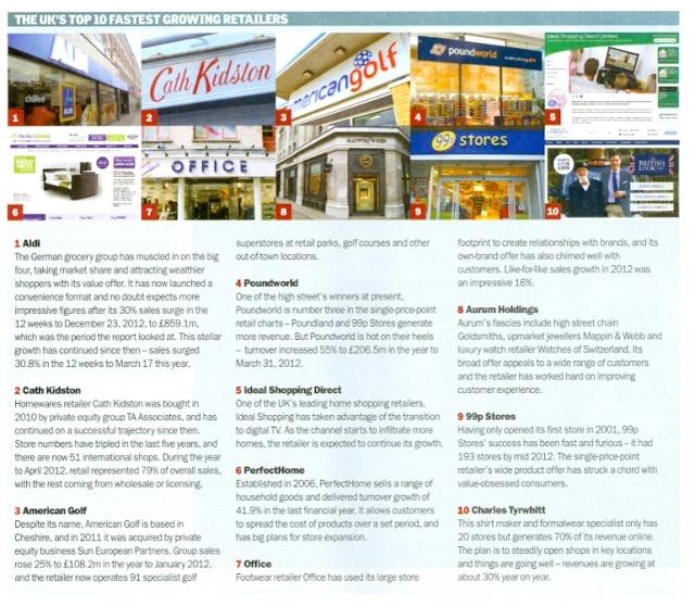Zolfo cooper in Retail week April 26 2013
