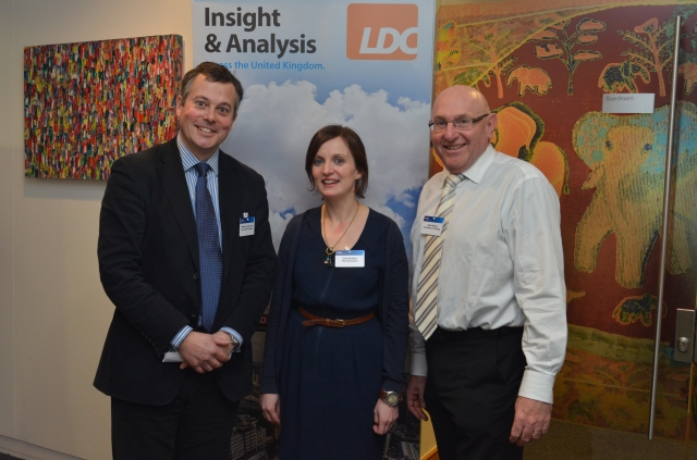 Matthew Hopkinson (LDC), Jane Bradley (The Scotsman) Leigh Sparks (University of Stirling)