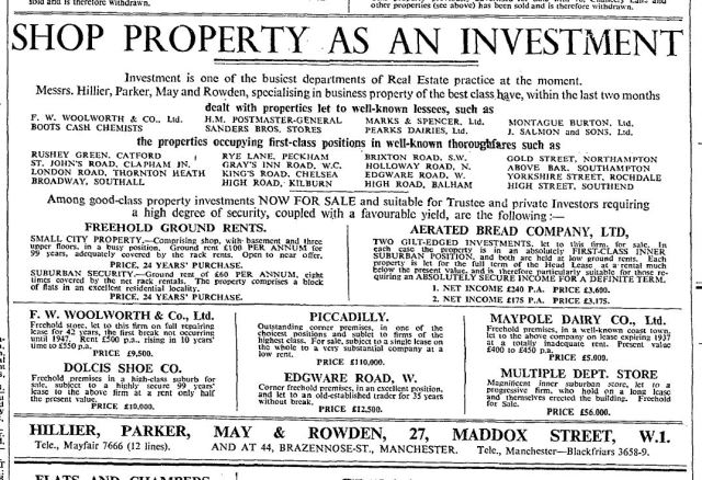 Times Advert February 13th 1933