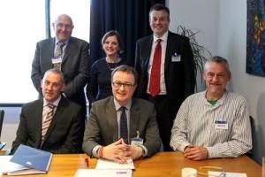 Leigh Sparks, Jane Bradley, Matthew Hopkinson (L-R back), Paul McLennan, John Lee, Malcolm Fraser (L-R, front)