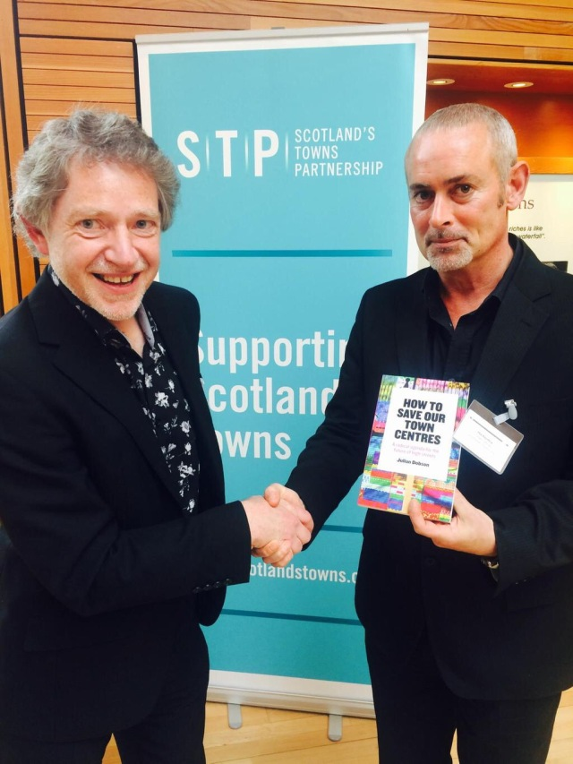 Phil Prentice (R) Chief Officer of STP thanks Julian Dobson  for his thought provoking presentation