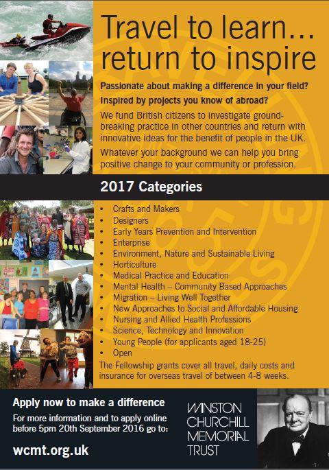 WCMT Categories 2017