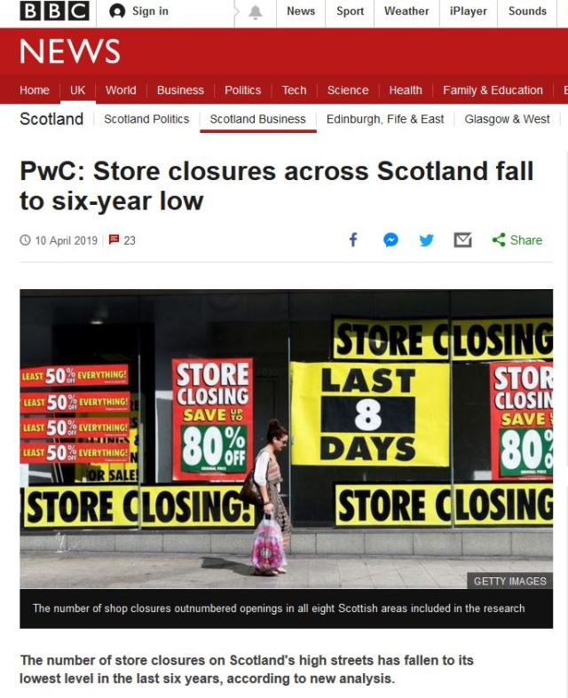 BBC Shop closures