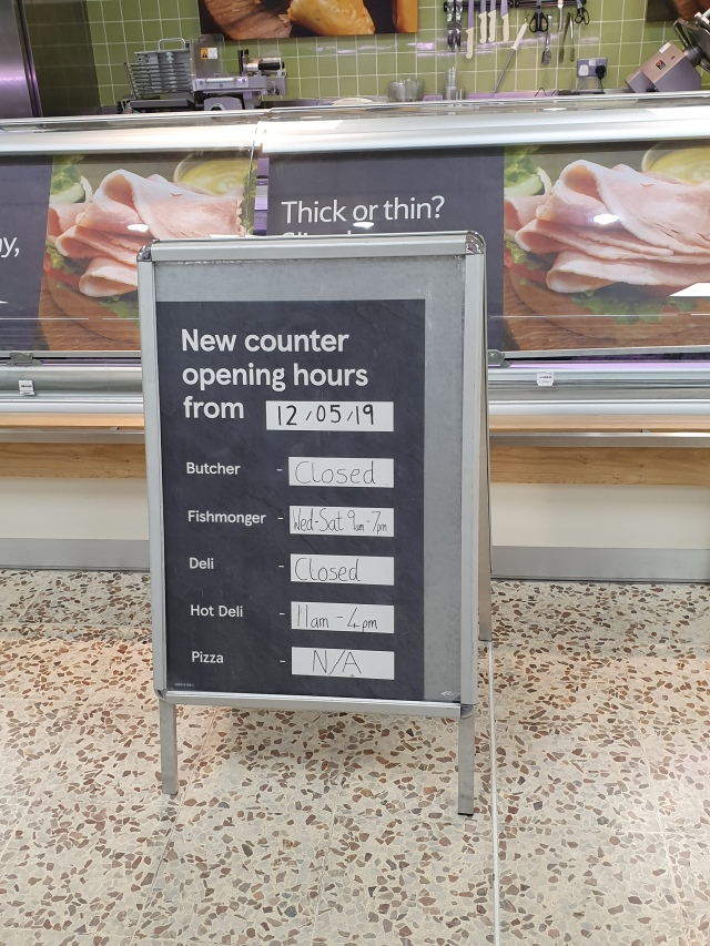 Tesco counter closures